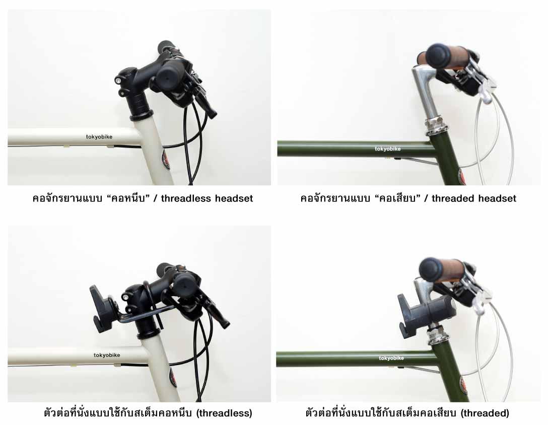 headset type for bike child seat mount