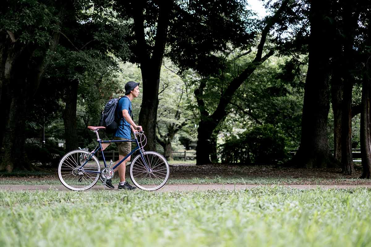tokyobike comfort over speed in the park