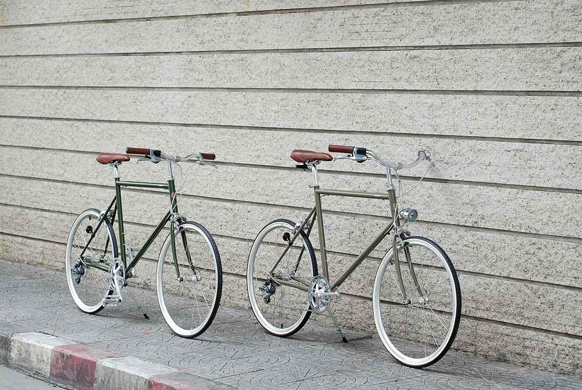 แฮนด์จักรยาน 2 แบบสำหรับรถประเภท comfort bike เช่น tokyobike