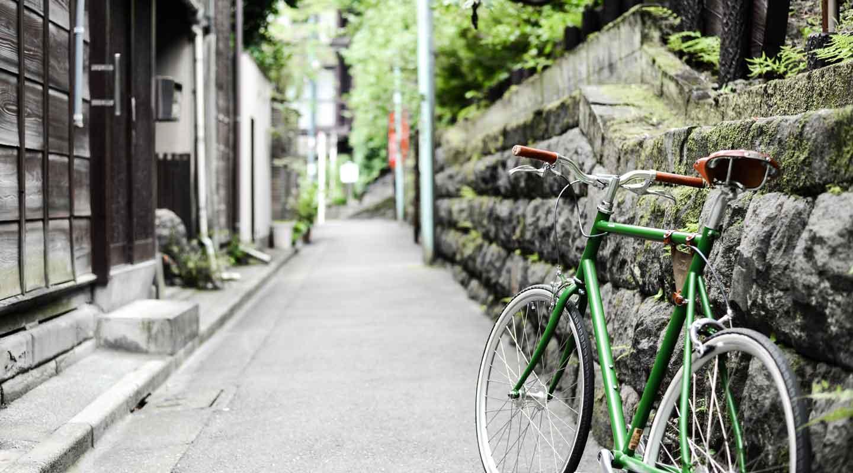 ขี่จักรยานในเมืองโตเกียว จักรยานสำหรับเช่า