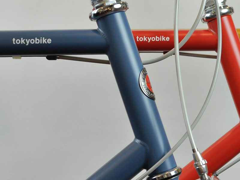 tokyobike 26 matt color in bluegray and red