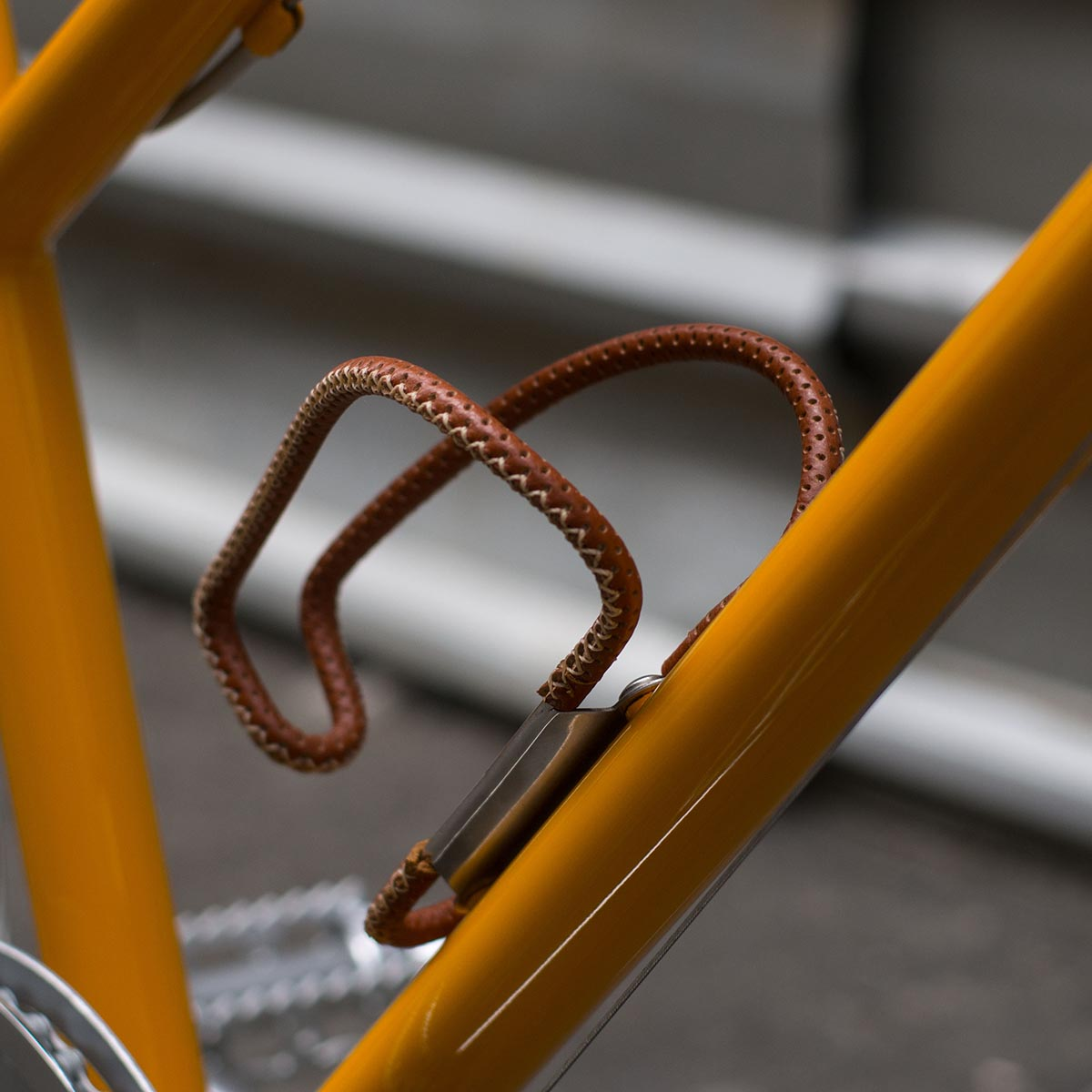 custom bicycle leather bottle cage