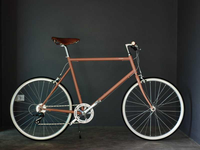 จักรยานแต่ง สวยๆ tokyobike 26 new color Beige red with special custom Brooks