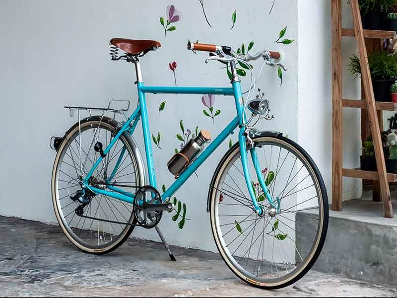 tokyobike plus CS สี surf blue เบาะสปริงค์ brook วินเทจ ไฟจักรยาน บังโคลน แร็คหลัง ขากระติกพันหนัง