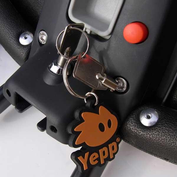 ที่นั่งเด็กติดจักรยาน Yepp มีที่ lock กันขโมย